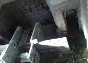 Building the lift shaft