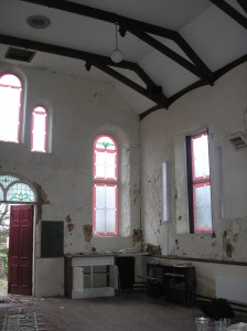 Inside the building as bought 2008