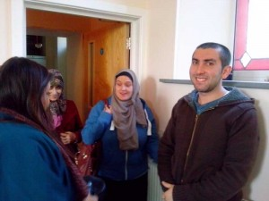 Students visiting the Community Centre 2013